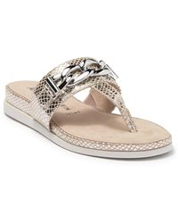 Anne Klein Savoria Thong Toe Sandal - Metallic
