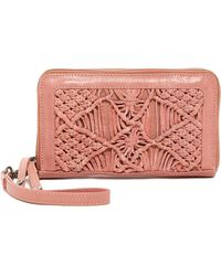 Day & Mood - Violet Leather Macrame Wallet - Lyst