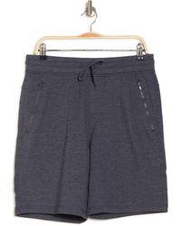 90 Degrees - Terry Zip Pocket Shorts - Lyst