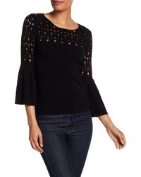 Bailey 44 - Distressed Bell Sleeve Sweater - Lyst