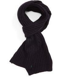 Polo Ralph Lauren | Chunky Rib Knit Scarf | Lyst