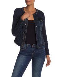 Nicole Miller - Embellished Denim Jacket - Lyst
