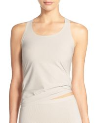 Spanx - Spanx Perforated Racerback Tank - Lyst