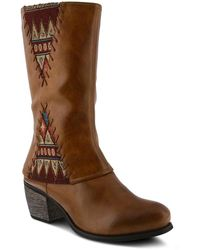 Spring Step Saylora Whipstitched Boot - Brown