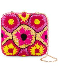 G-Lish - Sequined & Woven Starburst Squared Hard Case Clutch - Lyst
