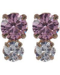 Joe Fresh - Dual Round-cut Cz Stud Earrings - Lyst