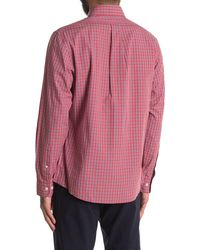Brooks Brothers Check Print Regular Fit Shirt - Red