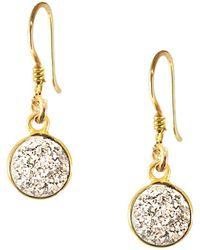 Charlene K - 14k Gold Vermeil Druzy Dangle Earrings - Lyst
