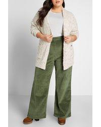 ModCloth The Boulder Wide Leg Corduroy Pants - Green
