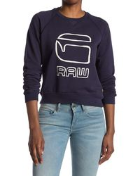 G-Star RAW Graphic Logo Pullover - Blue