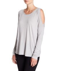 Michael Stars - Cold Shoulder Long Sleeve Tee - Lyst