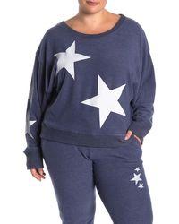 Sweet Romeo - Jumbo Star Dolman Sleeve Pullover Sweater (plus Size) - Lyst