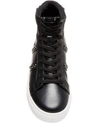 Steve Madden Studded High-top Sneaker - Black