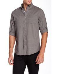 John Varvatos - Long Sleeve Roll Up Slim Fit Shirt - Lyst