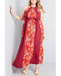 ModCloth Illuminated Elegance Maxi Dress - Red