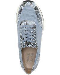 Naturalizer Nash Snakeskin Embossed Sneaker - Blue