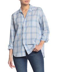 Frank & Eileen Eileeen Long Sleeve Button Front Shirt - Blue