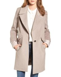 Calvin Klein - Wool & Down Reefer Coat - Lyst