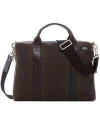 Jack Spade - Leather Trim Davis Briefcase - Lyst