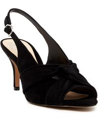 Vince Camuto - Piminae Knotted Slingback Leather Sandal - Lyst