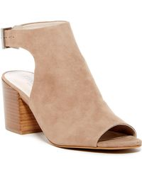 Kenneth Cole - Val Suede Block Heel Sandal - Lyst