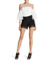 Gracia - Lace Crochet Short - Lyst