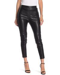 Line & Dot Daine Faux Leather Leggings - Black