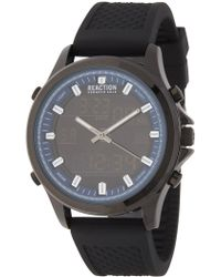 Kenneth Cole Reaction Men's Blue Ana-digit Watch, 44mm - Multicolor