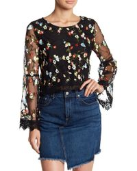 Jack BB Dakota - Lacy Lined Top With Flower Details - Lyst