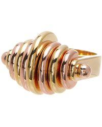 Botkier - Two-tone Half Circle Detail Ring - Size 7 - Lyst