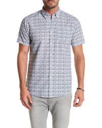 Indigo Star - Kona Short Sleeve Print Tailored Fit Shirt - Lyst