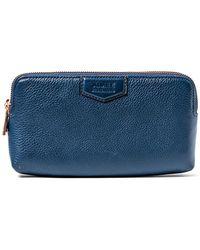 Aimee Kestenberg Gala Leather Double Zip Wallet - Blue