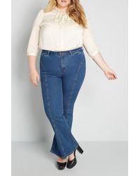 ModCloth The Los Feliz Flare Jeans - Blue