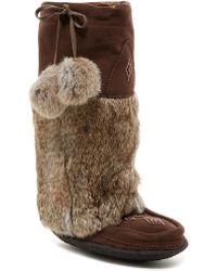 Manitobah Mukluks - Genuine Rabbit Fur & Sheepskin Footbed Classic Tall Suede Mukluk Crepe - Lyst