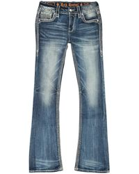 Rock Revival Mid Rise Bootcut Jeans - Blue