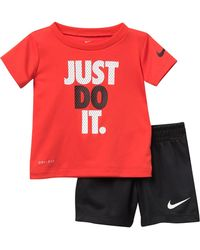 Nike Just Do It Top & Shorts Set (baby Boys) - Red