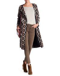 ANAMÁ - Woven Textured Long Jacket - Lyst