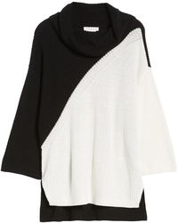 Chaus - Colorblock Cowl Neck Jumper - Lyst