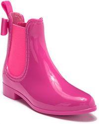 Catherine Malandrino Briellie Bow Chelsea Rain Boot - Pink