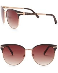 Vince Camuto - Unisex Clubmaster 51mm Metal Frame Sunglasses - Lyst