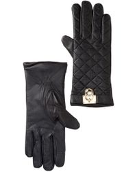 MICHAEL Michael Kors   Quilted Leather Gloves   Lyst