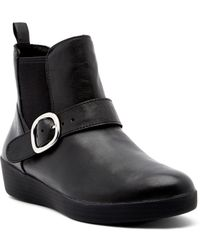 Fitflop - Super Buckle Leather Chelsea Boot - Lyst