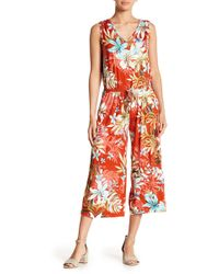 Spense - Floral Printed Jumpsuit - Lyst