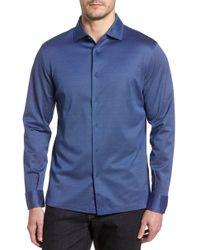 Bugatchi - Regular Fit Microdot Print Knit Sport Shirt - Lyst