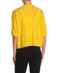Missoni Elbow Sleeve Open Front Wool Blend Cardigan - Yellow