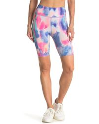 Threads For Thought Devi Watercolor Dreams Biker Shorts - Blue