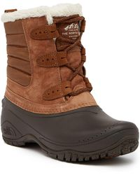 The North Face - Shellista 2 Shorty Faux Fur Waterproof Suede Boot - Lyst