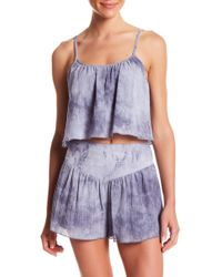 Honey Punch - Cropped Tie-dye Tank Top - Lyst