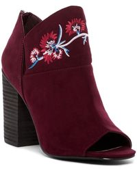 Carlos By Carlos Santana - Talana Embroidered Open Toe Bootie - Lyst