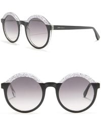 Jimmy Choo Glam 52mm Round Sunglasses - Multicolour